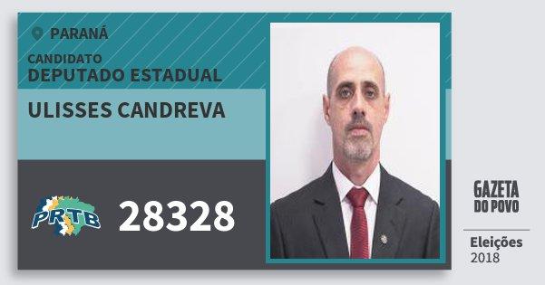 Santinho Ulisses Candreva 28328 (PRTB) Deputado Estadual | Paraná | Eleições 2018