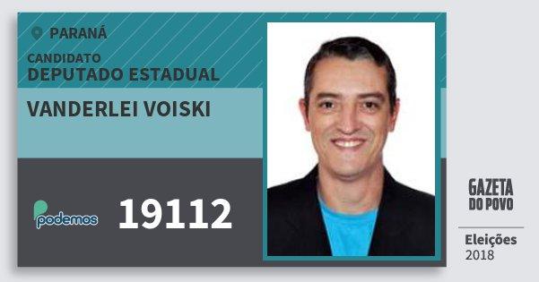 Santinho Vanderlei Voiski 19112 (PODE) Deputado Estadual | Paraná | Eleições 2018