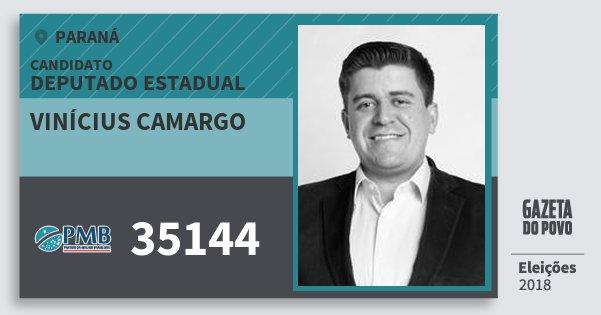 Santinho Vinícius Camargo 35144 (PMB) Deputado Estadual | Paraná | Eleições 2018