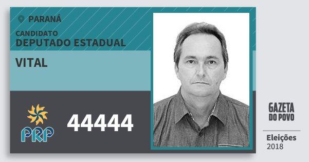 Santinho Vital 44444 (PRP) Deputado Estadual   Paraná   Eleições 2018