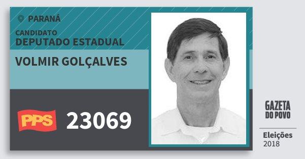 Santinho Volmir Golçalves 23069 (PPS) Deputado Estadual | Paraná | Eleições 2018