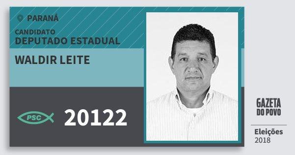 Santinho Waldir Leite 20122 (PSC) Deputado Estadual | Paraná | Eleições 2018