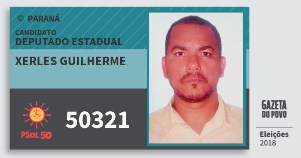 Santinho Xerles Guilherme 50321 (PSOL) Deputado Estadual | Paraná | Eleições 2018
