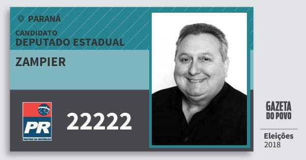 Santinho Zampier 22222 (PR) Deputado Estadual | Paraná | Eleições 2018