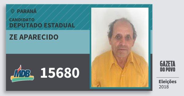 Santinho Ze Aparecido 15680 (MDB) Deputado Estadual | Paraná | Eleições 2018