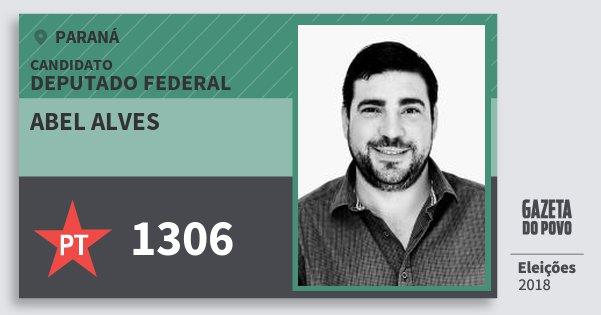Santinho Abel Alves 1306 (PT) Deputado Federal | Paraná | Eleições 2018