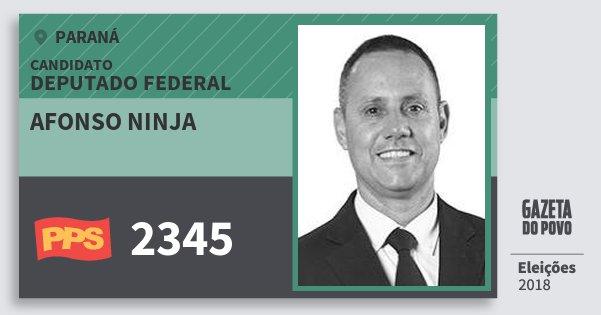 Santinho Afonso Ninja 2345 (PPS) Deputado Federal | Paraná | Eleições 2018