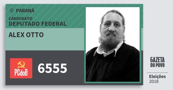 Santinho Alex Otto 6555 (PC do B) Deputado Federal | Paraná | Eleições 2018