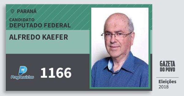 Santinho Alfredo Kaefer 1166 (PP) Deputado Federal | Paraná | Eleições 2018