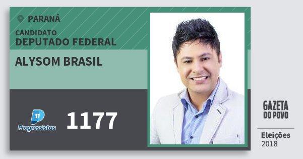 Santinho Alysom Brasil 1177 (PP) Deputado Federal | Paraná | Eleições 2018