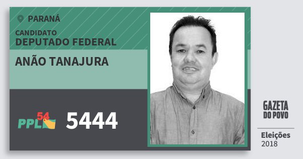 Santinho Anão Tanajura 5444 (PPL) Deputado Federal | Paraná | Eleições 2018