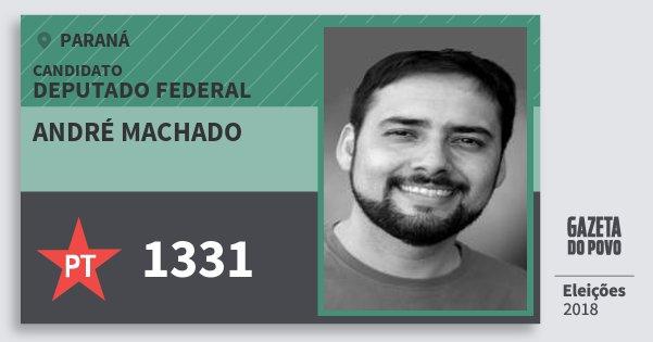 Santinho André Machado 1331 (PT) Deputado Federal | Paraná | Eleições 2018