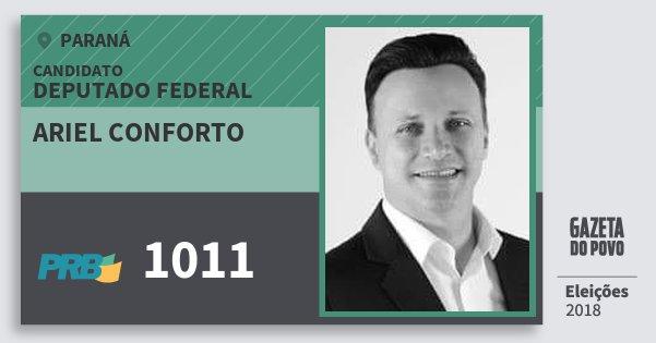 Santinho Ariel Conforto 1011 (PRB) Deputado Federal | Paraná | Eleições 2018