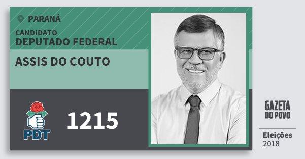 Santinho Assis do Couto 1215 (PDT) Deputado Federal | Paraná | Eleições 2018