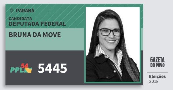 Santinho Bruna da Move 5445 (PPL) Deputada Federal | Paraná | Eleições 2018