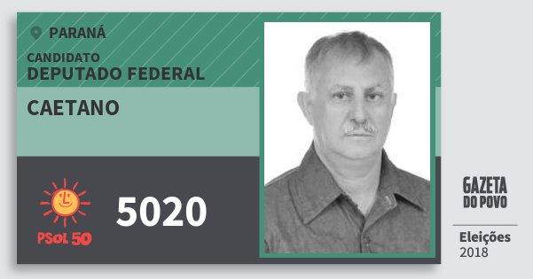 Santinho Caetano 5020 (PSOL) Deputado Federal | Paraná | Eleições 2018