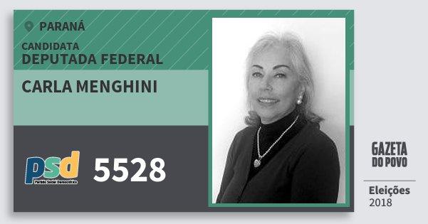 Santinho Carla Menghini 5528 (PSD) Deputada Federal | Paraná | Eleições 2018