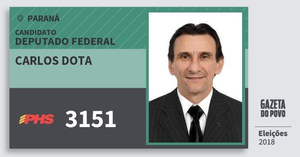 Santinho Carlos Dota 3151 (PHS) Deputado Federal | Paraná | Eleições 2018
