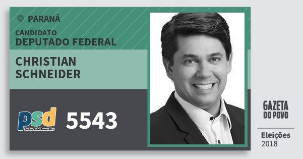 Santinho Christian Schneider 5543 (PSD) Deputado Federal | Paraná | Eleições 2018