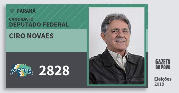 Santinho Ciro Novaes 2828 (PRTB) Deputado Federal | Paraná | Eleições 2018