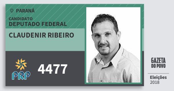 Santinho Claudenir Ribeiro 4477 (PRP) Deputado Federal | Paraná | Eleições 2018