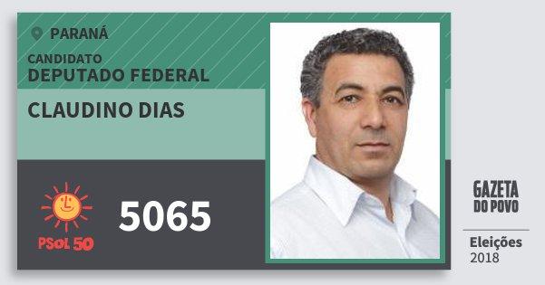 Santinho Claudino Dias 5065 (PSOL) Deputado Federal | Paraná | Eleições 2018