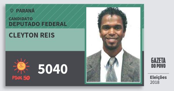 Santinho Cleyton Reis 5040 (PSOL) Deputado Federal | Paraná | Eleições 2018