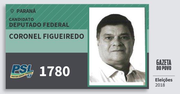 Santinho Coronel Figueiredo 1780 (PSL) Deputado Federal | Paraná | Eleições 2018