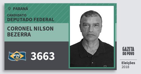 Santinho Coronel Nilson Bezerra 3663 (PTC) Deputado Federal | Paraná | Eleições 2018