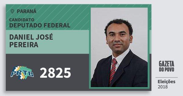 Santinho Daniel José Pereira 2825 (PRTB) Deputado Federal | Paraná | Eleições 2018