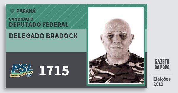 Santinho Delegado Bradock 1715 (PSL) Deputado Federal | Paraná | Eleições 2018
