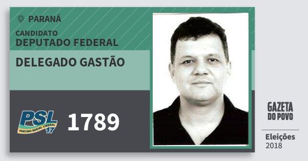 Santinho Delegado Gastão 1789 (PSL) Deputado Federal | Paraná | Eleições 2018