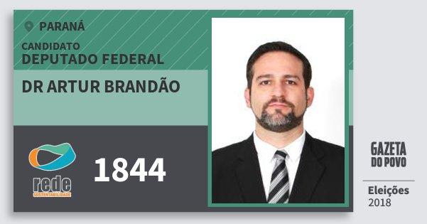 Santinho Dr Artur Brandão 1844 (REDE) Deputado Federal | Paraná | Eleições 2018