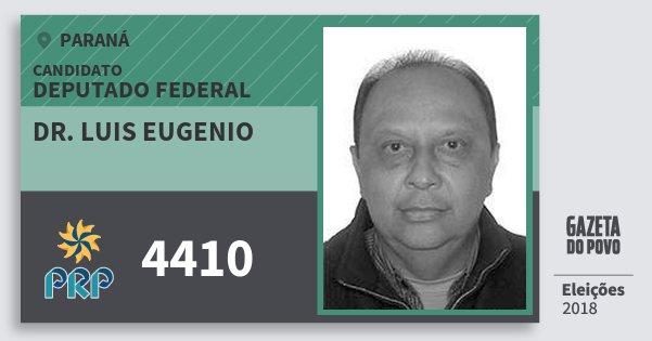 Santinho Dr. Luis Eugenio 4410 (PRP) Deputado Federal | Paraná | Eleições 2018