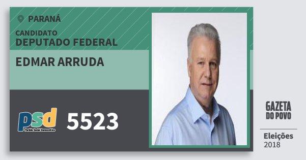 Santinho Edmar Arruda 5523 (PSD) Deputado Federal | Paraná | Eleições 2018