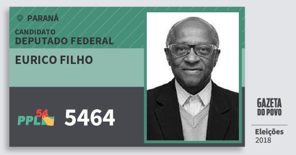 Santinho Eurico Filho 5464 (PPL) Deputado Federal | Paraná | Eleições 2018