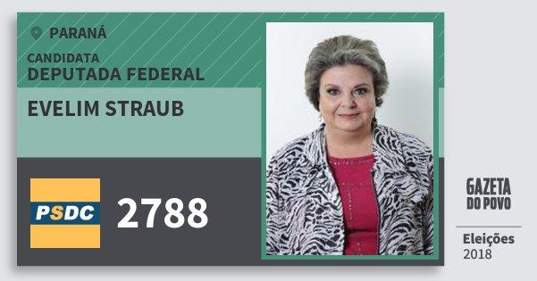 Santinho Evelim Straub 2788 (DC) Deputada Federal | Paraná | Eleições 2018