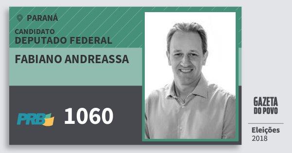 Santinho Fabiano Andreassa 1060 (PRB) Deputado Federal | Paraná | Eleições 2018