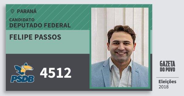 Santinho Felipe Passos 4512 (PSDB) Deputado Federal | Paraná | Eleições 2018