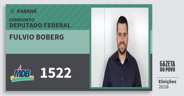 Santinho Fulvio Boberg 1522 (MDB) Deputado Federal | Paraná | Eleições 2018