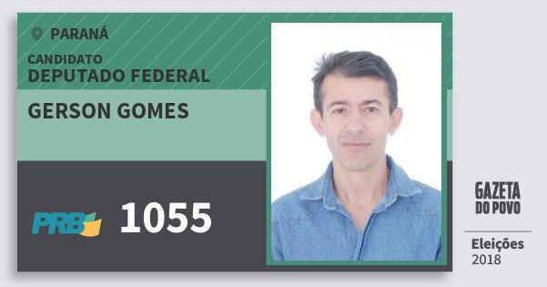 Santinho Gerson Gomes 1055 (PRB) Deputado Federal | Paraná | Eleições 2018