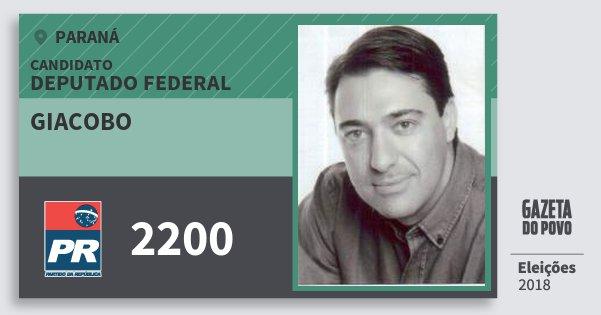 Santinho Giacobo 2200 (PR) Deputado Federal | Paraná | Eleições 2018