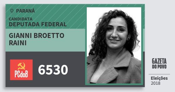 Santinho Gianni Broetto Raini 6530 (PC do B) Deputada Federal | Paraná | Eleições 2018