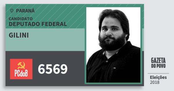 Santinho Gilini 6569 (PC do B) Deputado Federal | Paraná | Eleições 2018