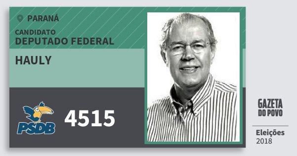 Santinho Hauly 4515 (PSDB) Deputado Federal | Paraná | Eleições 2018