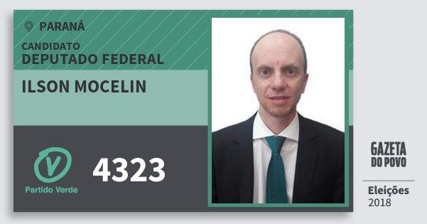 Santinho Ilson Mocelin 4323 (PV) Deputado Federal | Paraná | Eleições 2018
