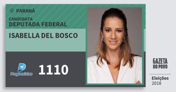 Santinho Isabella del Bosco 1110 (PP) Deputada Federal | Paraná | Eleições 2018