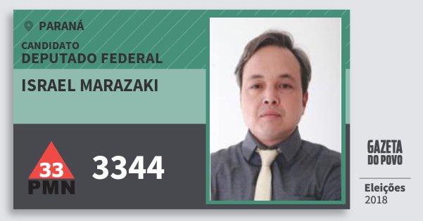 Santinho Israel Marazaki 3344 (PMN) Deputado Federal | Paraná | Eleições 2018