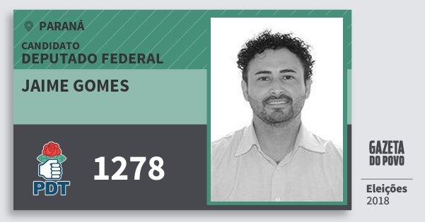 Santinho Jaime Gomes 1278 (PDT) Deputado Federal | Paraná | Eleições 2018
