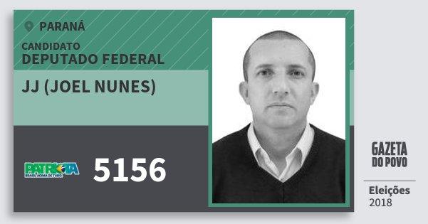 Santinho Jj (Joel Nunes) 5156 (PATRI) Deputado Federal | Paraná | Eleições 2018